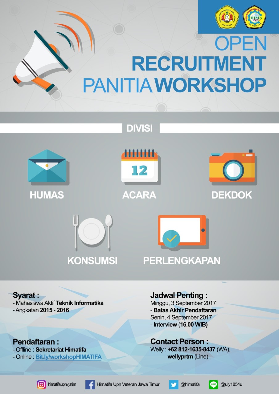 Open Recruitment Panitia Workshop